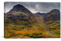 The Three Sisters of Glen Coe, Canvas Print