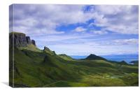 Quiraing on Isle of Skye, Scotland, Canvas Print