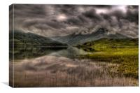 Low clouds over the Glen Finglas Reservoir, Canvas Print