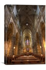 Interior of Saint Vitus Cathedral, Canvas Print