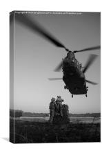 chinook helicopter, Canvas Print