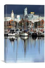 Liverpool Marina, Canvas Print