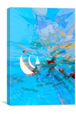 sailing abstract expressionist, Canvas Print
