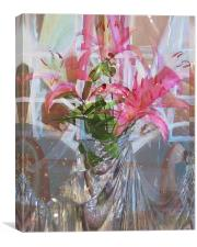 star lillies refraction, Canvas Print