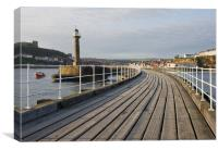Whitby Pier and Harbour, Canvas Print
