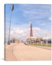 Blackpool Tower and Oar, Canvas Print