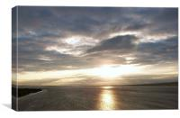 Sun Set on the Humber, Canvas Print