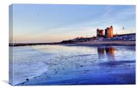 Withernsea Sunset and Moon, Canvas Print