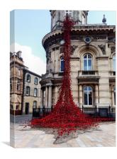 Poppies - City of Culture 2017, Hull, Canvas Print