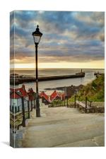 Whitby Sun Set, Canvas Print