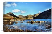 Canoeing on Wastwater , Canvas Print