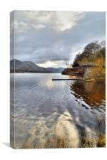 Ullswater Boat House, Canvas Print