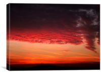 Sunset over Castle Hill, Canvas Print