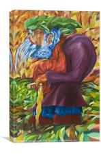 Old Man Collecting Sticks - Not On The Sabbath, Canvas Print
