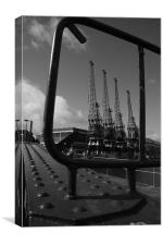 cranes in the frame, Canvas Print
