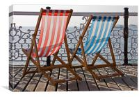 Deck chairs, Canvas Print