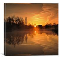 early in the morning, Canvas Print