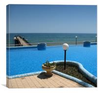 Sea View From The Pool, Canvas Print