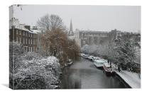 The Regents Canal, Primrose Hill, Canvas Print