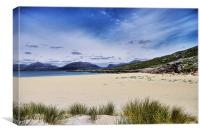 Luskentyre Beach and Taransay, Canvas Print