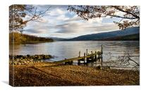 Old Wooden Jetty on Loch Arkaig, Canvas Print