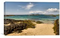 Isle of Skye from Arisaig, Canvas Print