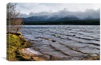 Waves on Loch Morlich, Canvas Print