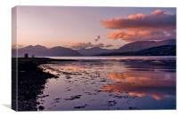 November Sunset Loch Leven, Canvas Print