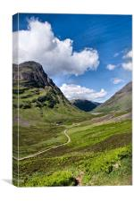 The Pass of Glencoe, Canvas Print