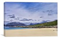 The Pale Sands of Luskentyre, Canvas Print