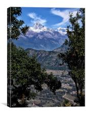 From the Road to Pokhara, Canvas Print