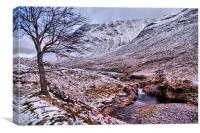 Glen Etive Winter, Canvas Print
