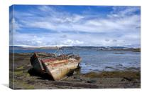 Old Boats on Mull, Canvas Print