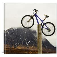 Mountain Biking Glencoe, Canvas Print
