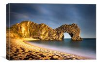 Durdle Door in colour, Canvas Print