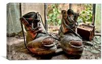 These Old Boots, Canvas Print