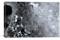 Natural Ice Sculpture, Canvas Print