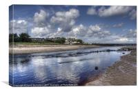 Margy River at low tide, Canvas Print
