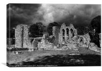 Inch Abbey, in County Down, Canvas Print