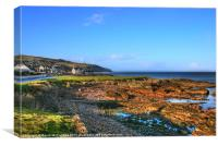Evening sunlight at Cushendall, Canvas Print