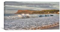 Antrim Coast Surf, Canvas Print