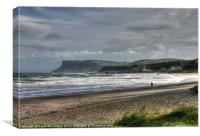 Spring tide at Ballycastle, Canvas Print
