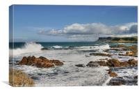 Surf at Ballycastle, Canvas Print