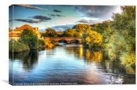 Evening light on the Margy River, Canvas Print