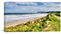 Gale force at Ballycastle, Canvas Print