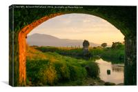 Evening at the Twelve Arches, Canvas Print