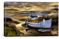 south ferriby boat, Canvas Print