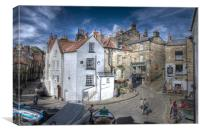 ROBIN HOODS BAY VILLAGE 2011, Canvas Print