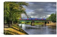 Scarborough Bridge, York, 2012, Canvas Print