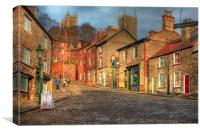 Steep Street Lincoln 2013, Canvas Print